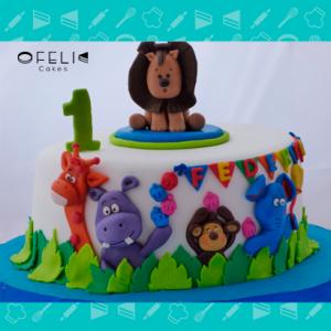 Torta de torta de ANIMALES DE LA SELVa en Bogota